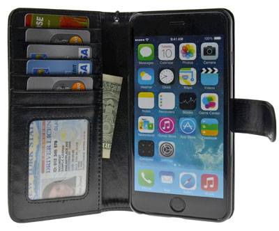 10. Flip Folio PU Leather Wallet Cover