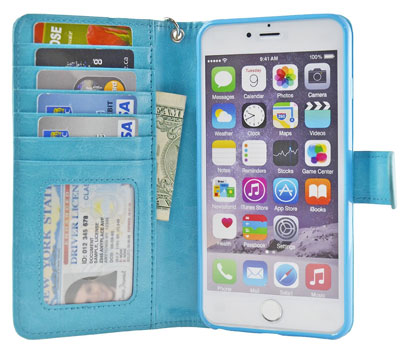 5. Flip Folio PU Leather Wallet Cover