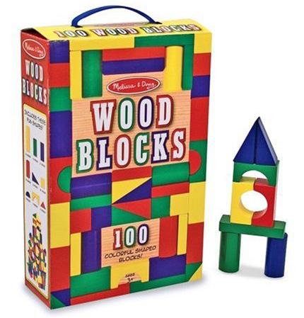 12. Doug 100-Piece Wood Blocks Set