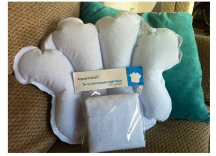 7.Aquasentials Inflatable Bath Pillow - Terry Cloth (Color Assorted)