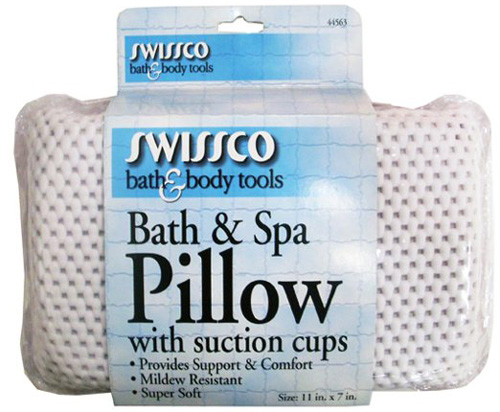 12.Swissco Bath and Spa Pillow with Suction Cups
