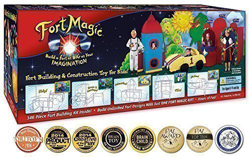 5. Fort Building & Construction Toy Kit