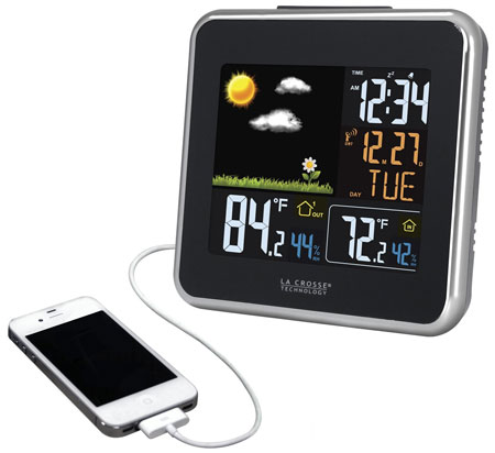 2. La Crosse Technology 308-146 Automatic Wireless Color Forecast Station With Dew Point, Heat Index, USB Charging Port