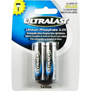 10. Ultralast - Lithium Phosphate Rechargeable Batteries
