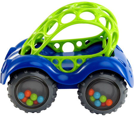 1. O Ball Rattle and Roll Car Assorted Colors & Styles, Top 15 Best Car Toys For Toddlers in 2020 Reviews