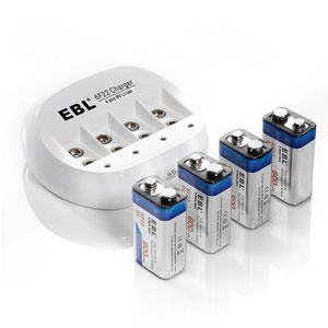 5. EBL 855 4 Bay 9V Li-ion Battery charger