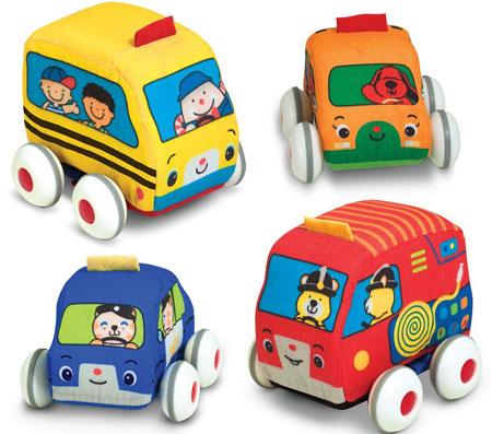 5. Mellissa & Doug K's Kid Pull-Back Vehicle Set