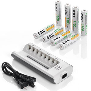 3. EBL AA & AAA Rechargeable Battery