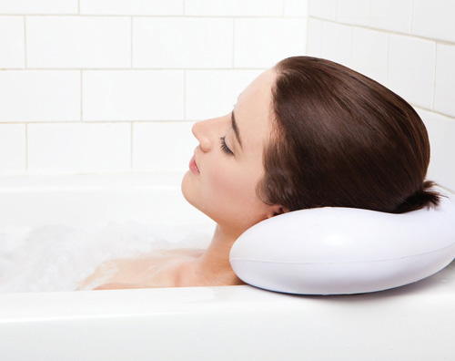 6.Bath Pillow - Luxury Spa Bath Pillow with Heavy Duty Suction Cups