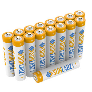 4. SunLabz® AAA Rechargeable Batteries
