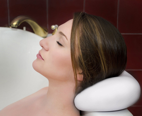 3.LUXURY Bath Pillow With Suction Cups ✮ Washable And Waterproof Pillows For Spa