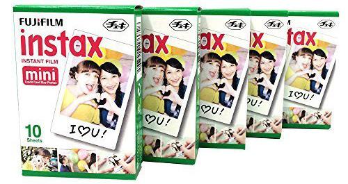 12. Fujifilm Instax Mini Instant Film-10 Sheets×5 Pack
