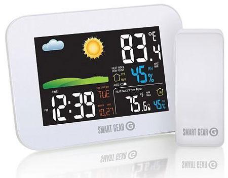 11. Smart Gear Indoor/Outdoor Wireless Weather Station