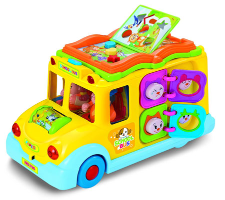 11. Interlectual School bus Activity Toy with Music, Sounds, and Lights For Toddlers