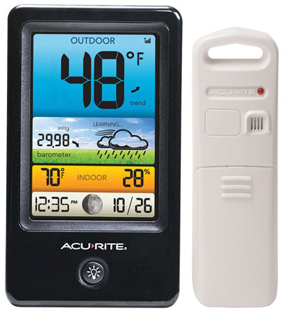 13. AcuRite 00509 Color Weather Station With Count Temperature/Humidity/Forecast