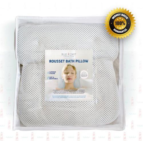 15. Luxury Bath Pillow for Jacuzzi Bathtub & Hot Tub! The Rousset Premium Spa Pillow is Designed for Comfort
