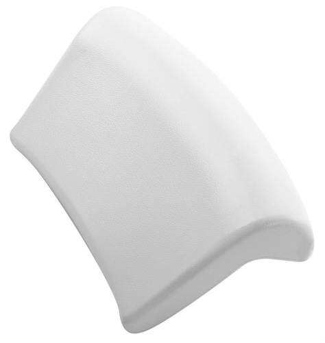 18.Accmart Bath Pillow Unique Shape Smooth for Bathroom Hotel White
