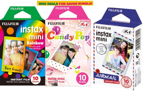 11. Fujifilm Instax Mini 3 Pack