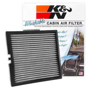 8. K&N VF2044 Washable & Reusable Cabin Air Filter