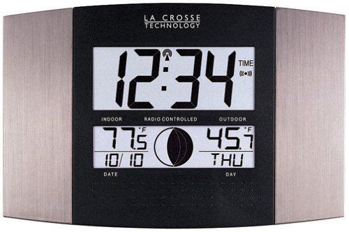 #1.La Crosse Technology WS-8117U-IT-AL Atomic Wall Clock