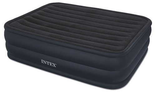 #5. Intex Raised Downy Airbed with Built-in Electric Pump, Queen, Bed Height 22