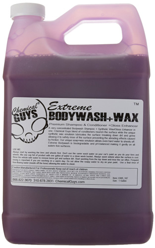 #7. Chemical Guys CWS107 Extreme Body Wash and Synthetic Wax Car Wash Shampoo