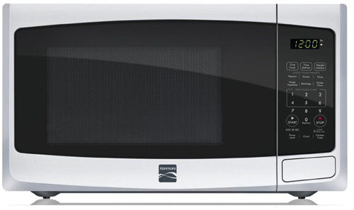 #3. Kenmore 0.9 cu. ft. Countertop Microwave White 73092