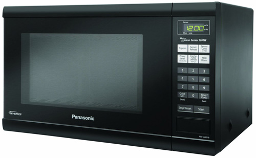 #4.Panasonic NN-SN651BAZ Black 1.2 Cu. Ft Countertop Microwave Oven