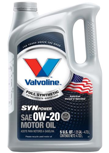 #9. Valvoline Full Synthetic Motor Oil