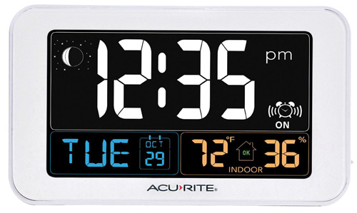 #3. AcuRite 13040 Intelli-Time Alarm Clock