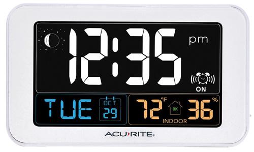 #3. AcuRite 13040 Intelli-Time Alarm Clock