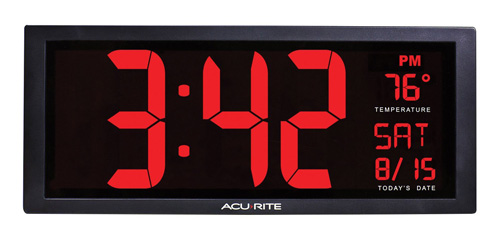 #5. AcuRite 75127 Oversized LED Clock
