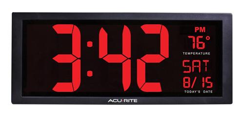 #5. AcuRite 75127 Oversized LED Clock