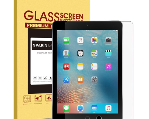 1. Sparin Tempered Glass Screen Protector for iPad 9.7, iPad Pro 9.7, iPad Air and iPad Air 2