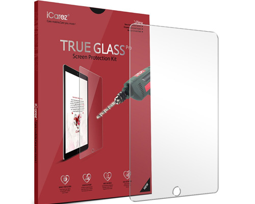 3. iCarez Tempered Glass Screen Protector for iPad 9.7, iPad Pro 9.7, iPad Air and iPad Air 2