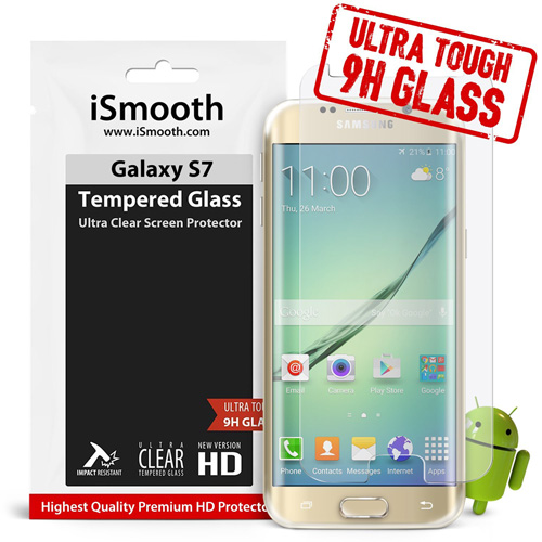 #13. Samsung Galaxy S7 Tempered Glass Screen Protector