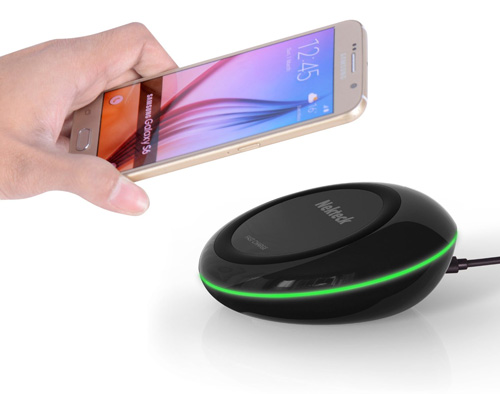 #2. Nekteck Qi Fast Charge Wireless Charger Charging Pad