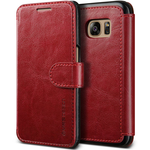 #5. Galaxy S7 Case, VRS Design [Layered Dandy][Wine Red]