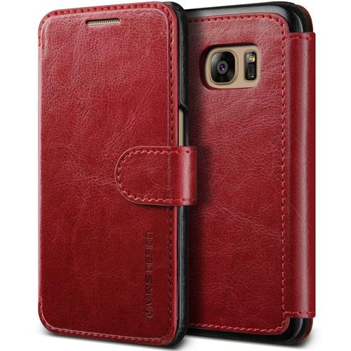 #5. Galaxy S7 Case, VRS Design [Layered Dandy][Wine Red]