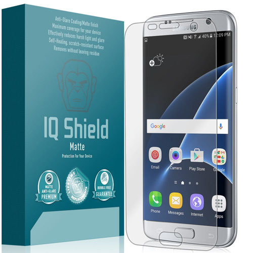 #11. IQ Shield® Matte - Samsung Galaxy S7 Edge Anti-Glare Screen Protector [Full Coverage]
