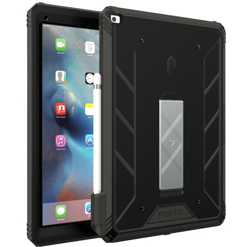 #4. iPad Pro 9.7 Case, POETIC Revolution [Premium Rugged][Landscape Stand Feature][Shock Absorption & Dust Resistant] Protective Case w/ Built-In Screen Protector for Apple iPad Pro 9.7 Black/Dark Gray