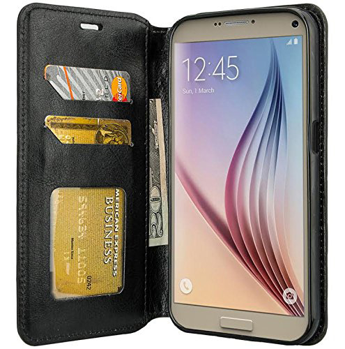 #3. Galaxy S7 Case, Samsung Galaxy S7 Wallet Case, Black