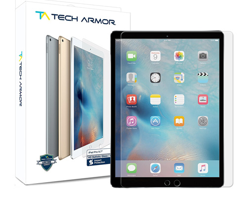 2. Tech Armor Ballistic Glass Screen Protector for iPad 9.7, iPad Pro 9.7, iPad Air and iPad Air 2