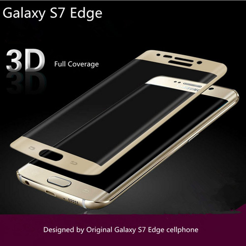 #10. galaxy S7 Edge Tempered Glass (Gold)