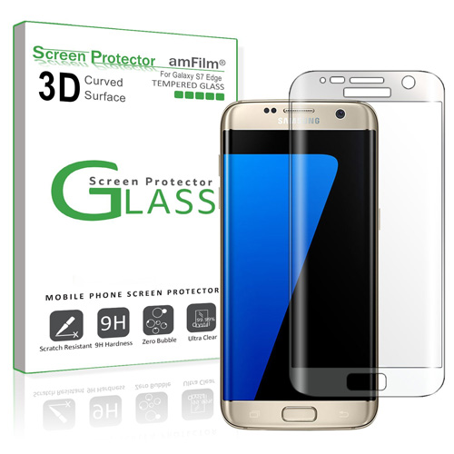 #1. Galaxy S7 Edge Glass Screen Protector