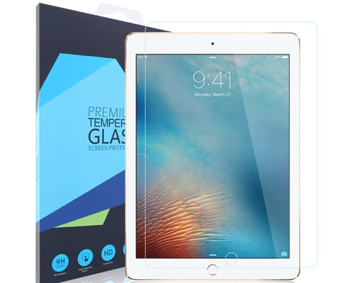 5. iXCC Tempered Glass Screen Protector for iPad 9.7, iPad Pro 9.7, iPad Air and iPad Air 2