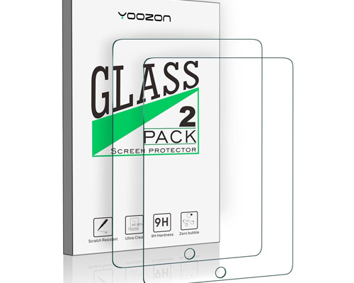 8. Yoozoon Tempered Glass Screen Protector for iPad 9.7, iPad Pro 9.7, iPad Air and iPad Air 2