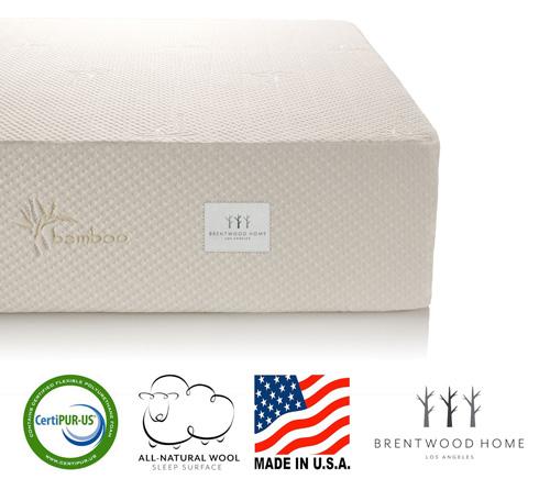 #1. Brentwood Home 13-Inch Gel HD Memory Foam Mattress