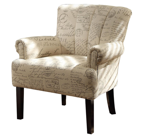 #5. Flared Arms Accent Chair