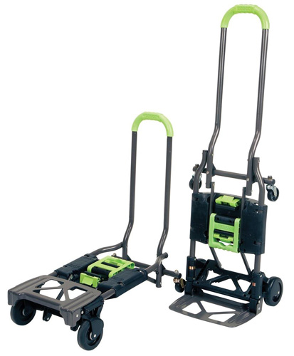 #2. Cosco Shifter Multi-Position Heavy Duty Folding Hand Truck and Dolly